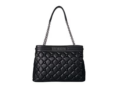 LOVE Moschino Quilted Shoulder Bag (Nero) Handbags