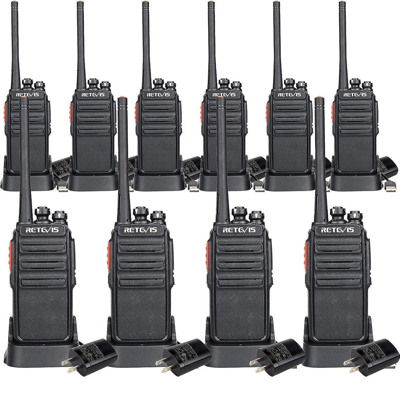 性交アクセスできない結果としてRetevis H-777S ウォーキー トーキー FRS ラジオ 充電 セキュリティ 2 ウェイ ラジオ (10パック) ブラック