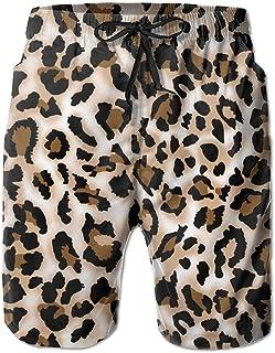 fc526c7d42 Bdna Leopard Prints Printed Men's Beach Shorts Swim Trunks Casual Sport  Print Short Pants Jogging Pants