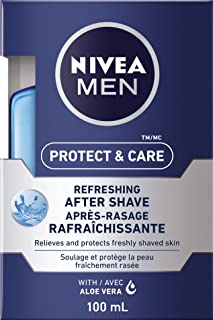 NIVEA Men Protect & Care Refreshing After Shave (100mL), Aftershave Lotion for All Skin Types, After Shave for Men that So...