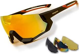 salida implicar físico  Gafas de Sol para Running Gafas Deportivas Polarizadas con 3 Lentes  Intercambiables UV400 Ciclismo o Esquí con Cristales de Noche 41degrees  Máscara Modelo Moraira Unisex.