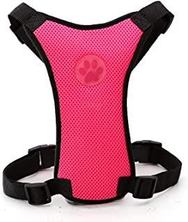 Dog Car Seat Harness Pet Travel Accessories Dogs Car Seat Belt Harness Soft Mesh for Medium Large Dogs Pitbull French Bulldog