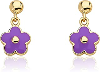 14k Gold Plated Small Dangling Earring