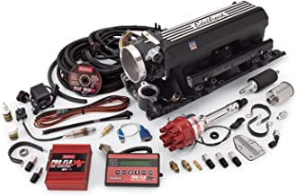 Edelbrock 35593 Pro-Flo XT Electronic Fuel Injection Kit Incl ProFlo XT EFI Man./90mm T. Body/Fuel Rails/Fuel Inj./ECU/Calib. ModFor BBC w/Rect Ports/9.8in Deck Ht.Up To 850 HPBlack Pro-Flo XT Electronic Fuel Injection Kit