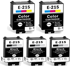 215 Ink Cartridges T215 Compatible for WF-100 Printer (3 Black, 2 Tri-Color, Pigment, 5 Packs)
