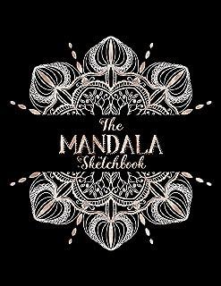 The Mandala Sketchbook: Radial Symmetry Grid Paper - Circular Mandala Layout Templates - Draw & Colour Your Own Mandala Designs