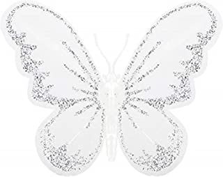 Firlar 24 Pcs Christmas Butterfly Decorations, DIY Glitter Butterfly Ornament for Home Bedroom Wedding Party Birthday and ...