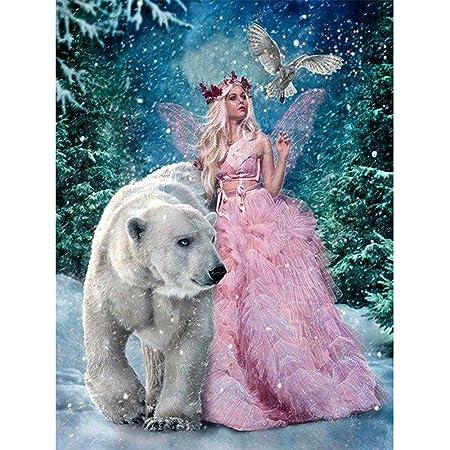 À faire soi-même complet Perceuse 5D Diamond Peinture Kits neige House UK cadeaux Festival decor