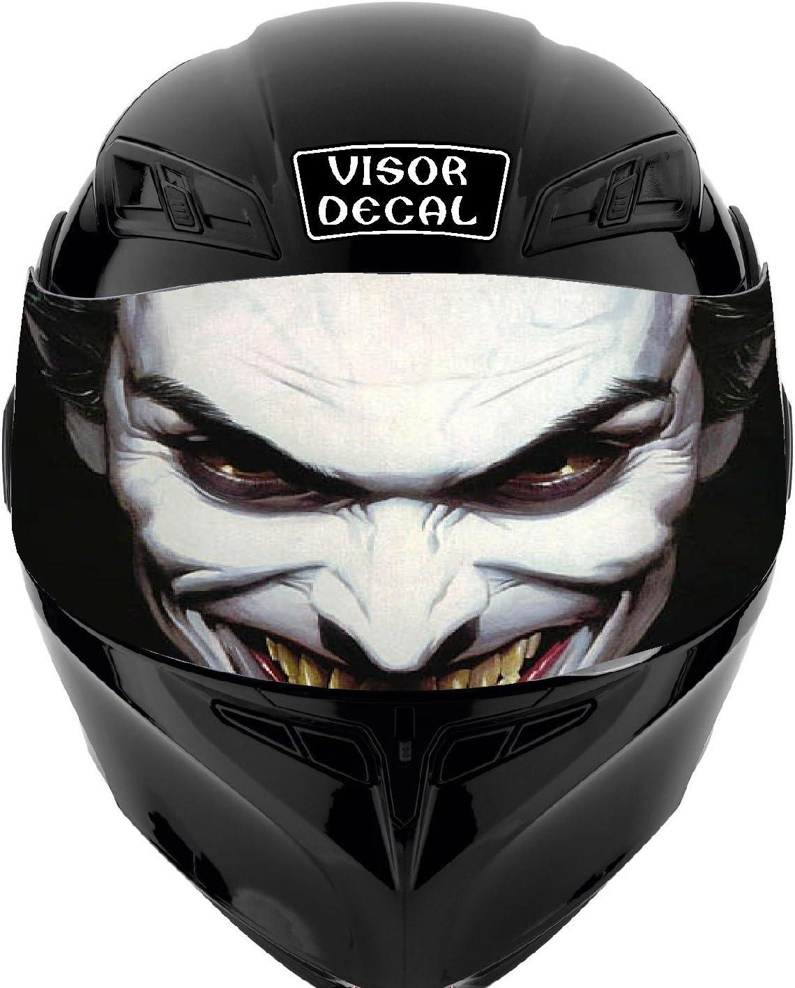 Under blast sales V16 Joker VISOR TINT DECAL Graphic Direct sale of manufacturer Helmet Sticker Fits: Icon Sho