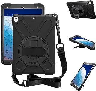 ZenRich iPad Air 3 Case 2019, iPad Pro 10.5 Case 2017, Kickstand Hand Strap & Shoulder Belt zenrich Shockproof Heavy Duty ...