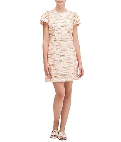 Kate Spade New York Multi Tweed Shift Dress (Pink Lotus) Women