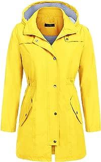 Raincoat Womens Lightweight Hooded Waterproof Active Outdoor Rain Jacket Windbreaker S-XXL