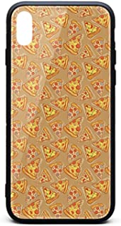 Love Pizza Pie Slice Phone Case for iPhone X/XSTPU Gel Full Protective Anti-Scratch Fashionable Glossy Anti Slip Thin Shockproof Soft Case