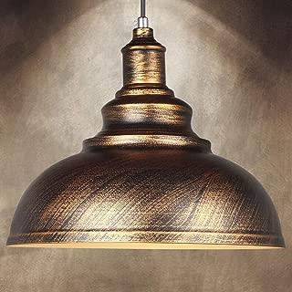 FNCUR Black Finish for Dining Room Chandelier Ceiling Light E27 Retro Metal Industrial Pendant Light Antique Vintage Barn Hanging Lamp Oil Rubbed (Color : Brass)