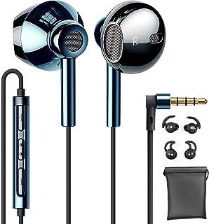 【新登場モデル】 マイク付きイヤホン 有線 インナーイヤー型イヤフォン HD通話可能 QUADダイヤフラム デュアルドライバー構造 重低音重視 ハイレゾ相当の リモコン(3ボタン) 付 音量調整 3.5mmプラグ iPhone/Android/...