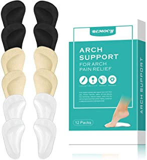 (12PCS) Arch Support,Soft Gel Insole Pads,High Heel Inserts Reusable Arch Cushions Best for Plantar Fasciitis and Flat Fee...