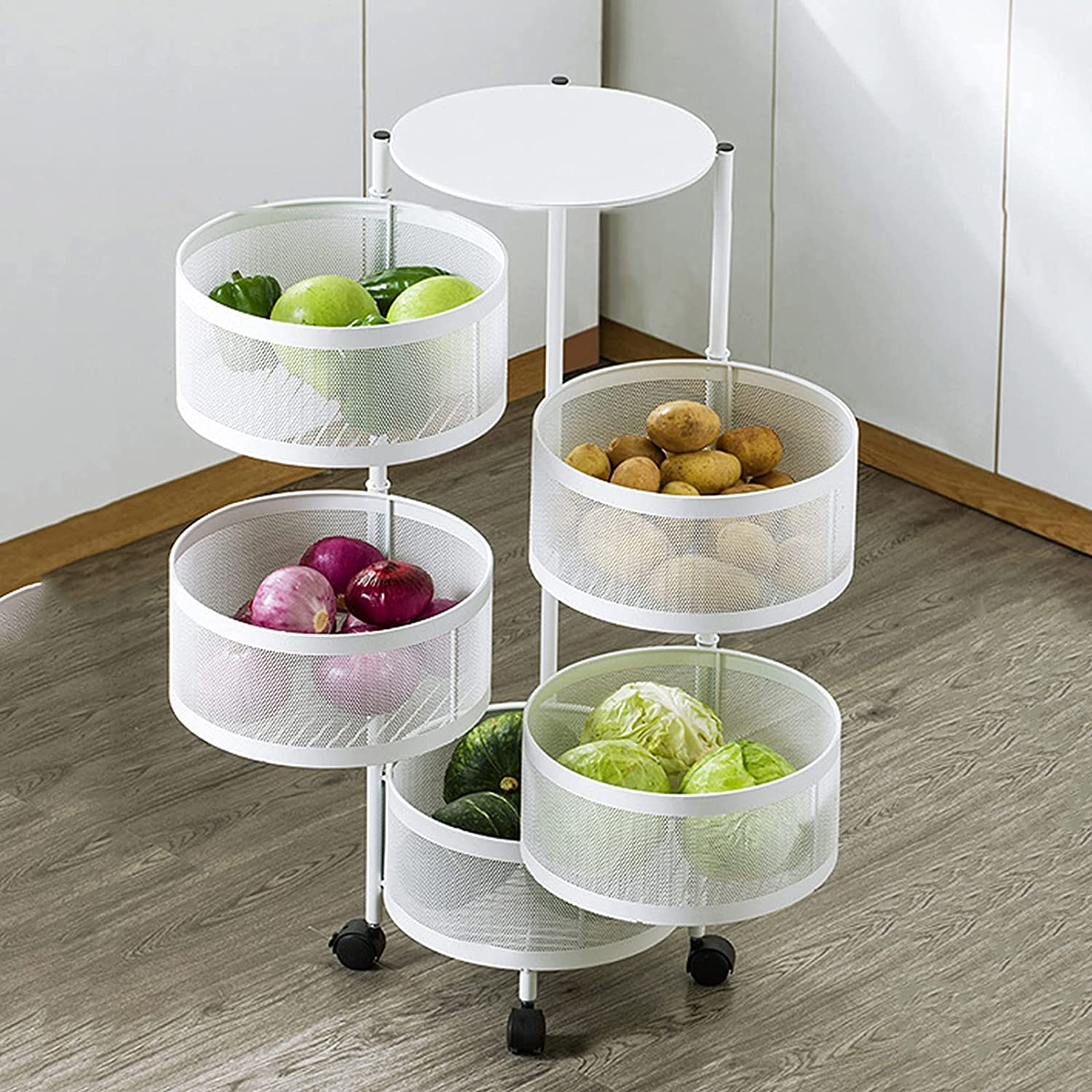 Max 60% OFF Max 71% OFF YDYBY Kitchen Storage Rack F Movable Vegetable 360°Rotating