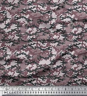 18ca800b066f Soimoi Marrón georgette de musgo Tela Dos tonos camuflaje tela estampada de  por metro 42 Pulgadas