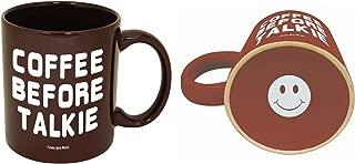 Funny Guy Mugs Coffee Before Talkie Ceramic Coffee Mug, Brown, 11-Ounce