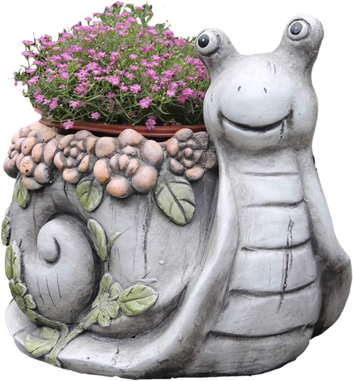 Jardineras para macetas Jardín al Aire Libre Home Garden Art Flower Planter Jardín Estatua Siller Plantador lindo Caracoles Flor Pot Suculent Planta Pot para Patio Al Aire Libre Decoración del plantad