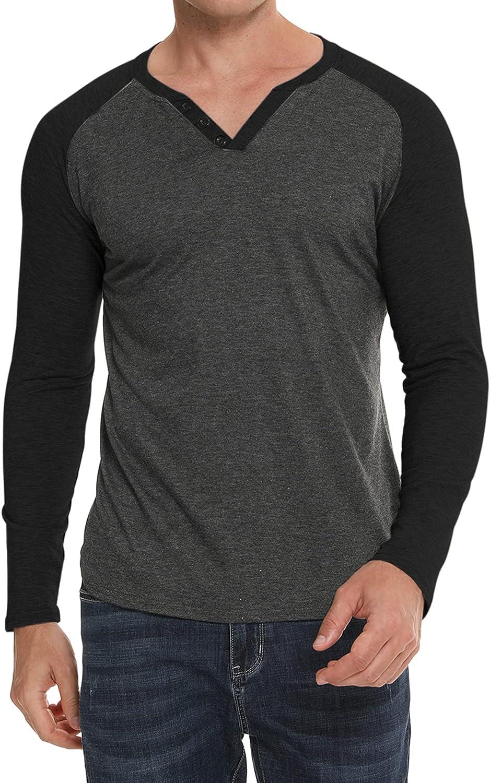 LOLLO VITA Men's Henley Shirt Long Baseball Sleeve SALENEW Classic very popular Raglan Casual