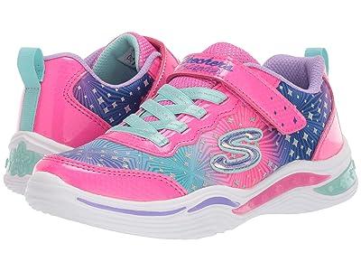 SKECHERS KIDS Sport Lighted Power Petals 20335L (Little Kid/Big Kid) (Neon Pink/Multi) Girl