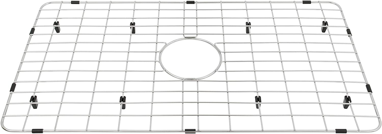 MONSINTA Sink Protectors for Kitchen Sink Kitchen Sink Grate for Kitchen Sink Sink Protector with Center Hole for Single Sink Bowl Kitchen Sink bottom Grid 26 15//16 x 14 Sink Grid