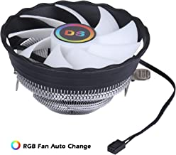 1900RPM CPU Cooler, Aluminum Extrusion Cooling CPU Fan for LGA 775/1155/1156 (Axis Rainbow Auto Change, C Series)