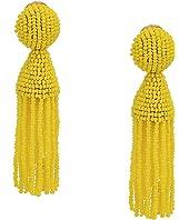 Oscar de la Renta - Short Beaded Tassel Clip Earrings