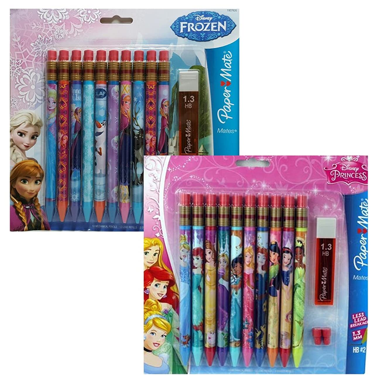 Papermate Disney Princess and Frozen Mechanical Pencils 10 Count (Set of 2)