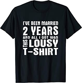 2nd Year Anniversary Shirt Two Year Wedding Married Tee