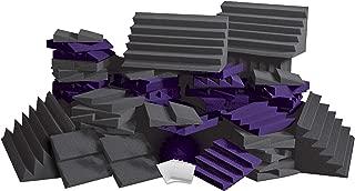 Auralex ROOMADCHA/PUR Alpha-DST Roominator Kit:32- DST112 Panels- Charcoal; 32- DST114 Panel- Purple; 4-LENRD Bass Trap-Charcoal; 2 TTPRO
