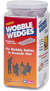 Wobble Wedges Multi-Purpose Shims–Soft Clear 75 pack –Easy to Trim –Protect Delicate Surfaces –Level Restaurant Tables, Household Furniture and Plumbing Fixtures –Use as Clamping Pad on Angled Surface