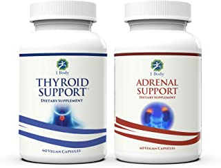 1 Body Thyroid and Adrenal Support Mood Improvement Pair
