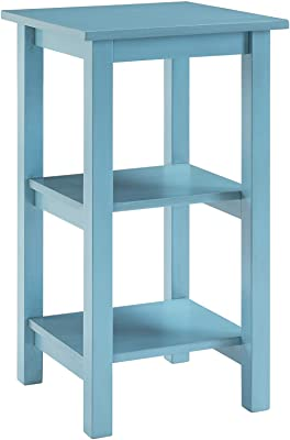 Boraam Landry Bookcase, Deep Sky Blue