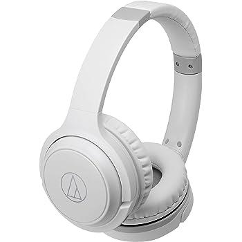 audio-technica ワイヤレスヘッドホン 最大40時間再生 Bluetooth マイク付き 密閉型 ホワイト ATH-S200BT WH