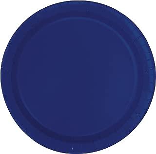 Unique Industries, Paper Plates, 20 Pieces - Navy Blue - 30948