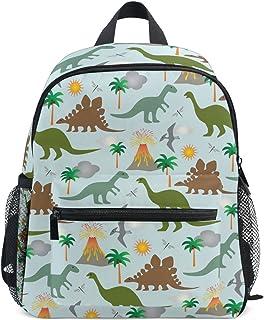 MASSIKOA Dinosaurs and Volcanoes Lightweight Travel School Backpack for Boys Girls Kids