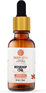 Deep Urth Natural Rosehip Oil, 1 oz - Pure & Cold-Pressed - 100% Pure Oil