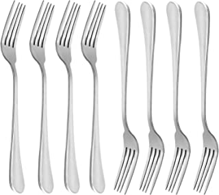 Dinner Forks, MCIRCO 18/10 Heavy-duty Stainless Steel Dinner Forks,Salad Forks Set of 8, 8 Inches
