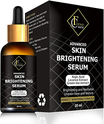 Finecare Lightening Serum with Kojic Acid 30ml Natural Skin Lightener Whitening Serum Dark Spot Corrector Remover for Face,Neck & Private Part product image