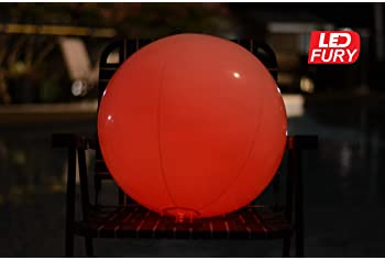 Large Floating and Inflatable LED Glow in The Dark Beach Ball Toy with Color Changing Lights | Great for Summer Parti...