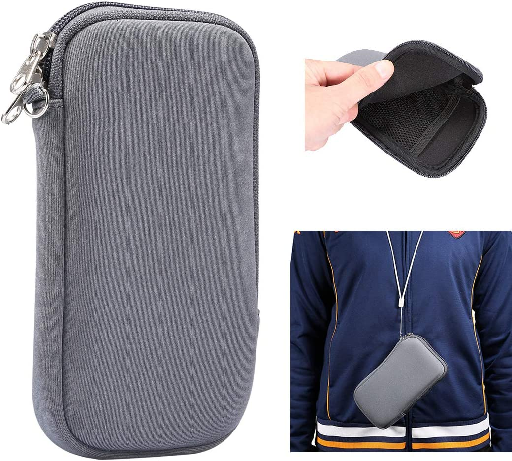 Neoprene Phone Pouch for Huawei Mate 20X,Enjoy max,Honor 8X Max,7.2 inch Universal Cell Sleeve Mobile Bag with Zipper, Neck Lanyards Straps for Sony Xperia 10 Plus,Xperia 1,Xperia XA Ultra,1 II