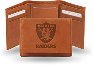 Rico Industries NFL Arizona Cardinals Embossed Leather Trifold Wallet, Tan