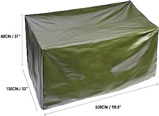 BRAMBLE! Funda para Muebles de Jardín Exterior, Rectangular Grande 230x185x H80cm| Impermeable, Anti-UV, Resistente, Ligero y Fuerte| Cubierta Protección Exterior para Mesa Sillas Sofás.