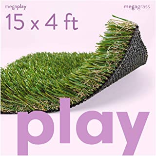 MEGAGRASS Synthetic Playground Grass - Indoor Outdoor Turf Grass Rug Mat for Playground Flooring, Parks, and Senior Care Homes Available in Custom Sizes