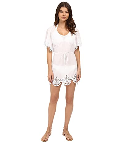 Seafolly Beach Smock Dress Cover-Up (White) Women