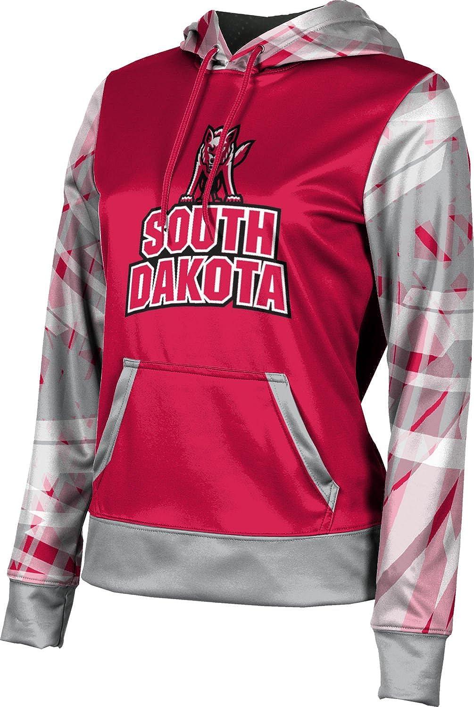 University of South Dakota Girls' Pullover Hoodie, School Spirit Sweatshirt (Crisscross)