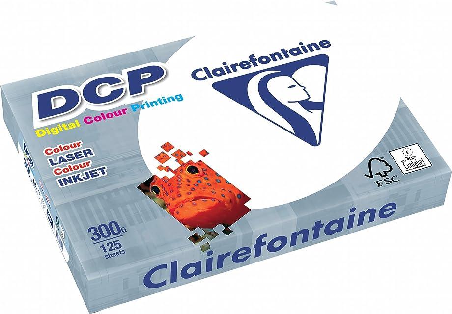 Clairefontaine - Pack de hojas Blanco A4 125 hojas 300 g/m2
