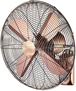 Ventilador de parede Metal Vintage/Ventilador de Enfriamiento de Aire Oscilante Montado en la Pared de 16 Pulgadas/Ventilador Eléctrico Silencioso Industrial Antiguo para el Hogar